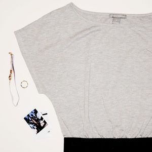 isabella rodriguez | Gray/Black Mini Dress